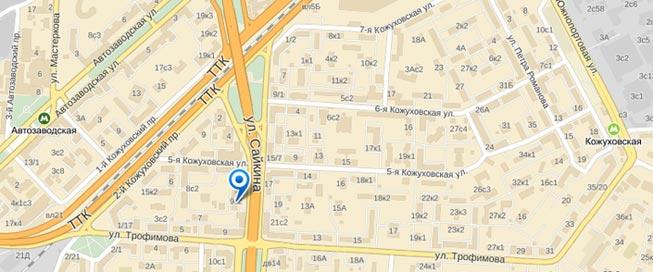 На карте Felice-Studio Женская Школа Елены Легентовой